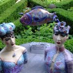 Ceramic Sculpture in canal garden