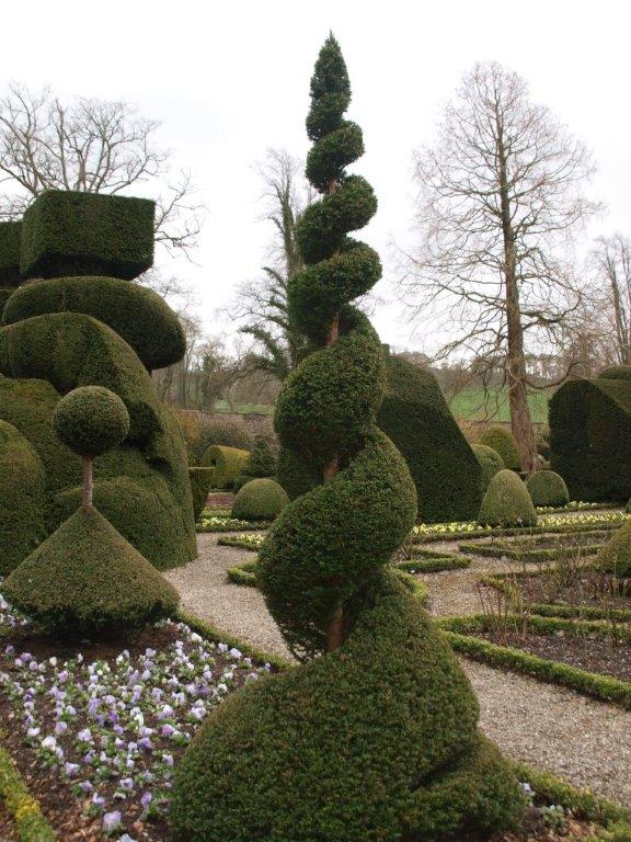 Topiary spiral Levens Hall