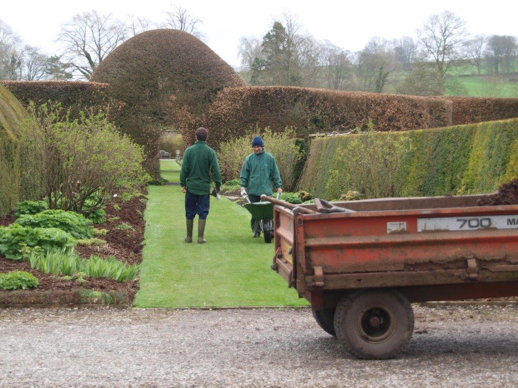 Gardeners at Levens Hall