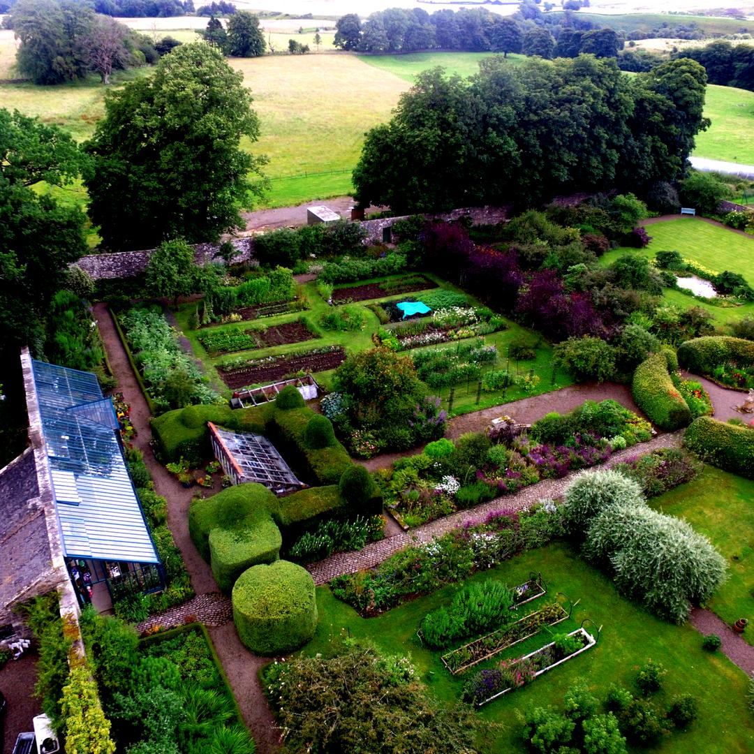 Scotland, Midlothian - Visit to a Walled Cut Flower Garden & Business